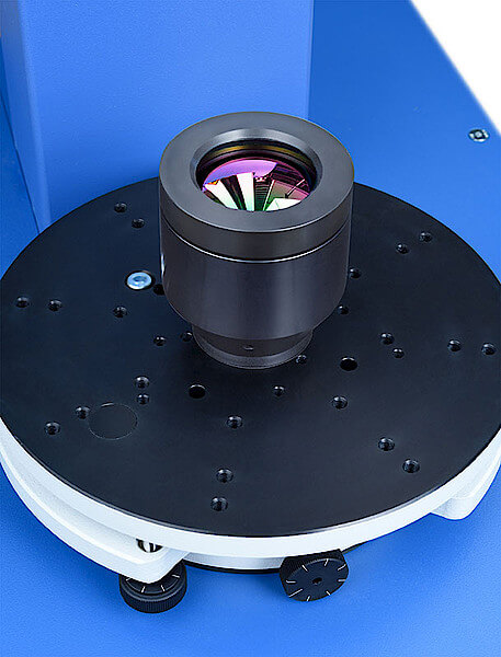 IR lens on a tilt and translation table (TRT)