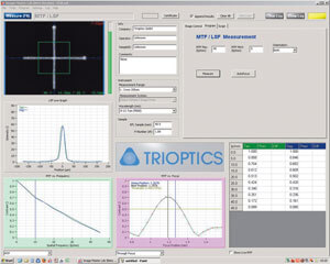 ImageMaster HR IR Software showing the measurement results