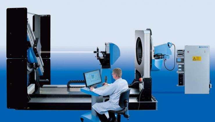 Finite conjugated lens measurement setup