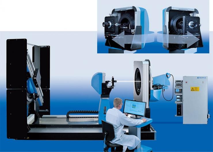 Infinite conjugated lens measurement setup