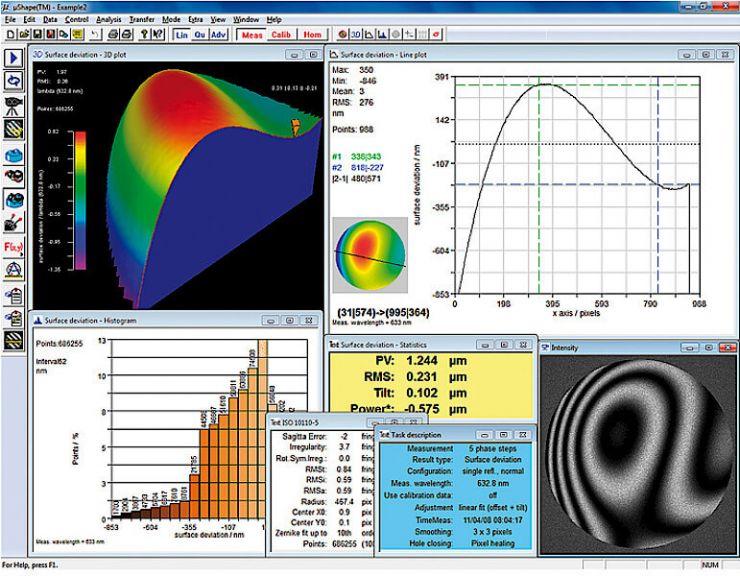 µShapeTM Interferometer Software